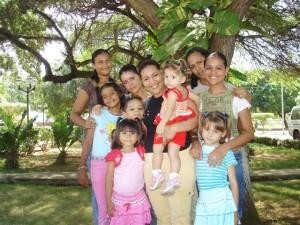 SOS Mother and her childrenin SOS Childrens Village Venezuela